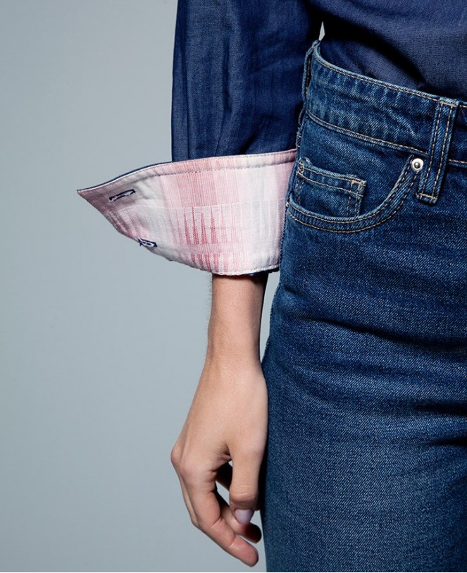 CAMISA DENIM PATCHWORK WOMAN