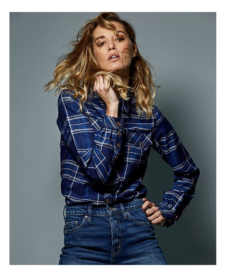 CAMISA BLUE CHECKED WOMAN