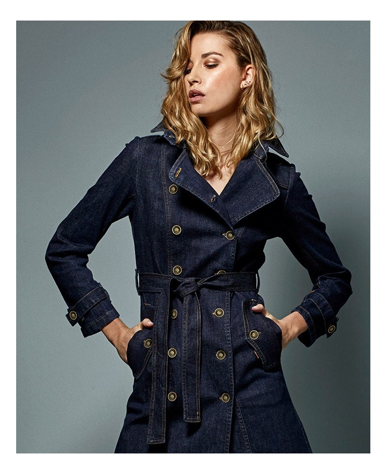 DENIM TRENCH WINONA