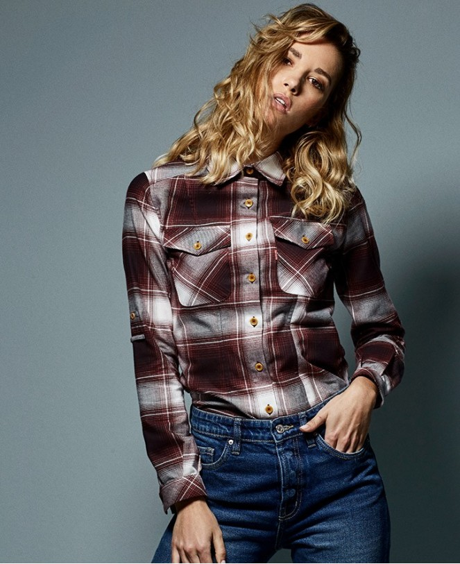 ESSENTIAL CHECKED SHIRT RED