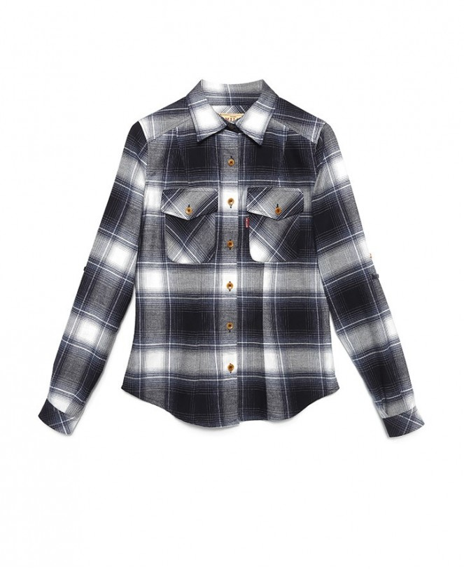 ESSENTIAL CHECKED SHIRT BLUE