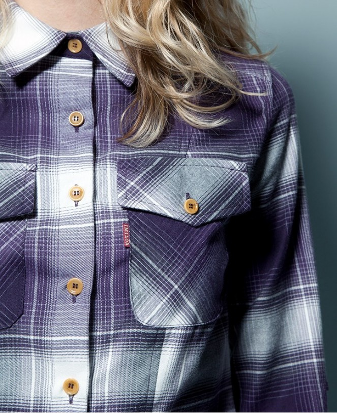 ESSENTIAL CHECKED SHIRT PURPLE