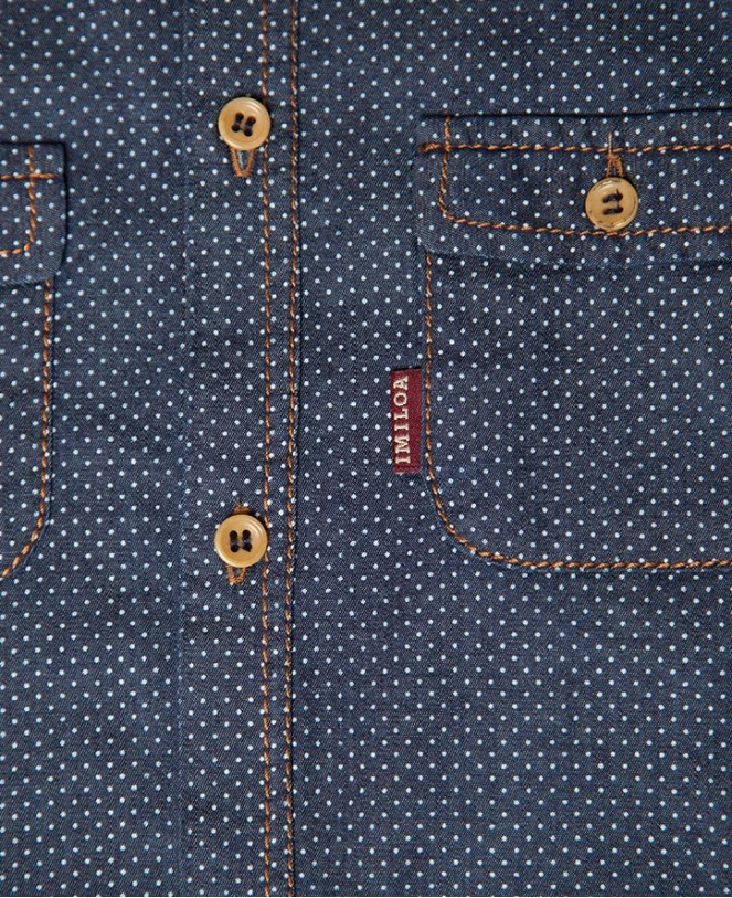CAMISA ESSENTIAL DENIM SPOTS NIÑO