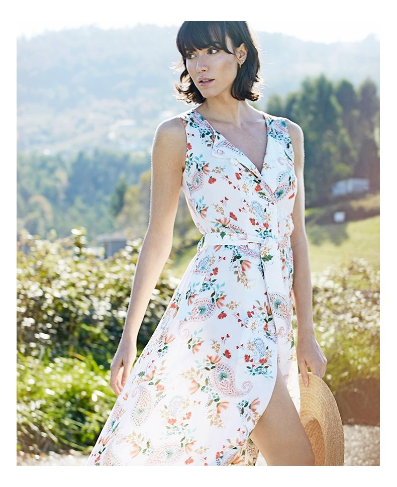 MAXI DRESS ESTAMPADO DOBLE ABOTONADURA JARA