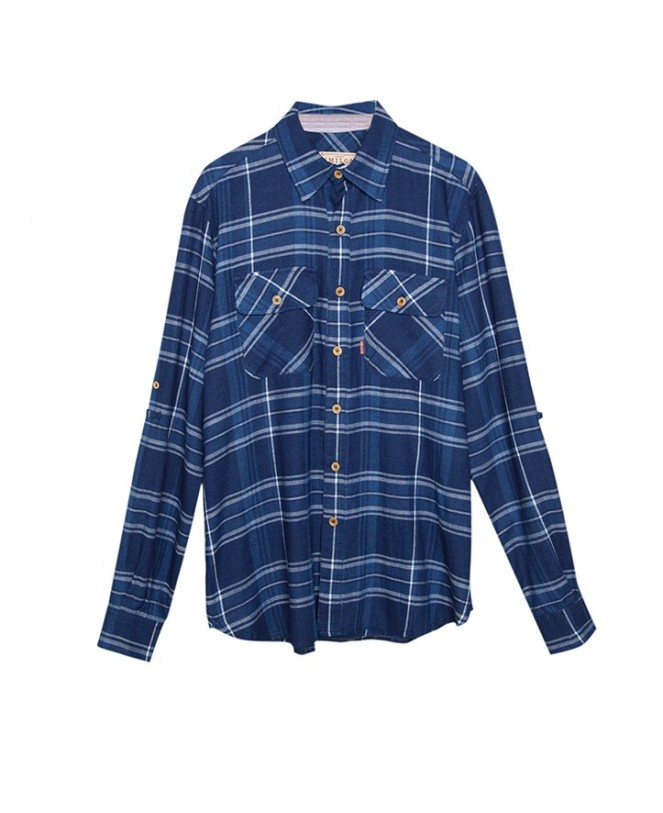 CAMISA ESSENTIAL CHECKED PATCHWORK MAN