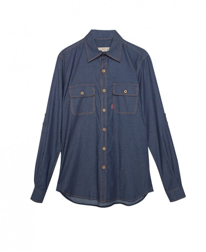 CAMISA ESSENTIAL DENIM SPOTS MAN