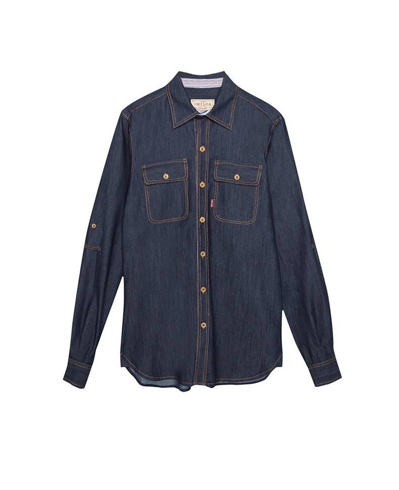 CAMISA ESSENTIAL DENIM PATCHWORK MAN